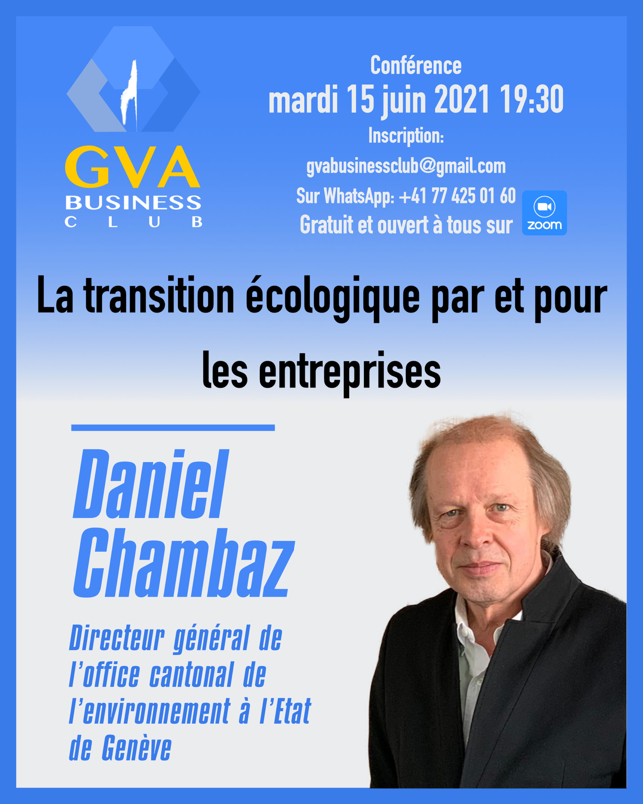 GVA Business Club Daniel Chambaz
